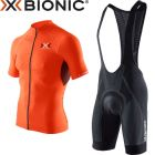 O100045B014O100044O095-L - Комплект велоодягу Trick® Biking Pants + Trick® Biking Shirt Black/Anthracite/Orange